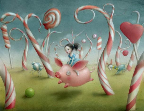 Candy-Forest-by-Nicoletta-Ceccoli-610x473