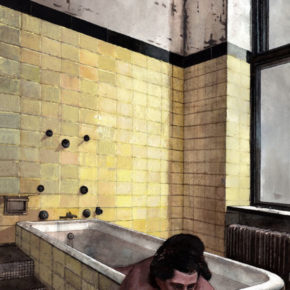 Matt Rota – 'Yellow Tiles' – ink, watercolor, acrylic, 2012 (Matt doesn't indicate size on his website)